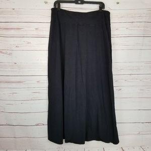 Lane Bryant Women's 14/16 Black Maxi Skirt